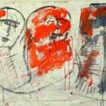 Gespräch unter Freunden, 2013, Mischtechnik auf Leinwand, 100 x 140 cm