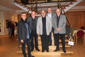 v.li.: Frank Lohse, Dr. Peter Atrat, Dr. Bernd Hartung, Dr. Claus Unruh, Rolf Huber (Foto: Evelyn Huber)